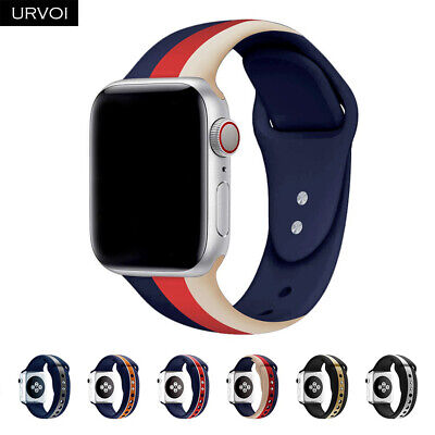 Replacement Silicone Wrist Bracelet Sport Band Strap For Apple Watch 4 3 40/44mm