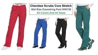 Cherokee Womens Scrubs Core Stretch Pants WW130T Tall All Colors All Sizes NWT