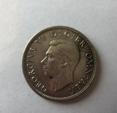 1942 Great Britain King George VI 1/2 Crown Silver Coin