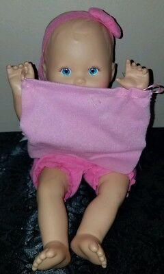 2009 Fisher Price Mattel LITTLE MOMMY HIDE & PEEK A BOO Baby Doll~Works!