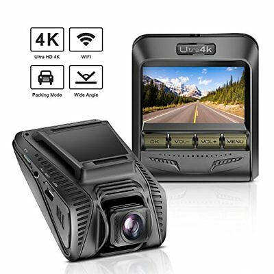 "TryAce Dash Cam 4K UHD WiFi Car Dashcam 2.4"" LCD 170° Wide Angle"
