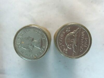 Two Rolls Of 1964 Canadian Nickels 5 Cents Five Cents ~ Must See