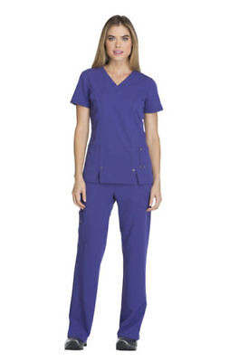a273145dbc7 Dickies Xtreme Stretch Scrubs Grape Set Top 82851 Pant 82011 All Sizes NWT