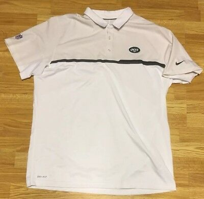 NEW YORK NY JETS Nike Dri-Fit Mens POLO GOLF SHIRT size Medium NWT ... 58112d3af