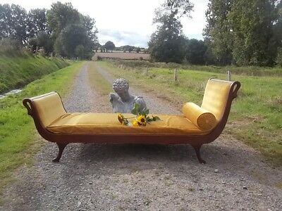 very rare magnificent colonial empire period stylish daybed swan detailing  base