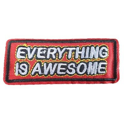 Everything Is AWESOME Words Iron On Patch LEGO movie words text slogan Patch