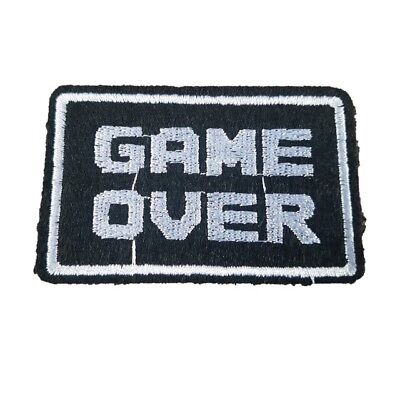 GAME OVER Patch Words Iron On Patch GAMER Patch words text slogan