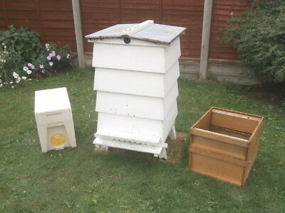 W.b.c. Wood Hive +Spare Brood Box & Super.