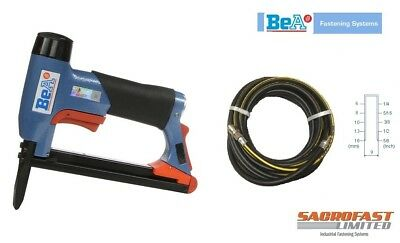 BeA 71/16-436 LONG NOSE AIR STAPLER FOR 71 SERIES STAPLES WITH 10M AIR HOSE