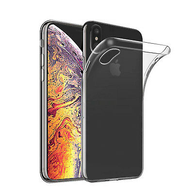 Cover Per Iphone Xs/ Max/ Xr Apple Trasparente Morbida Custodia Sottile Tpu Slim