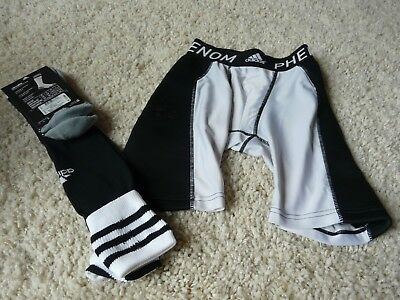 Adidas Phenom Performance Shorts Protective Cup Youth Size M AND SOCKS!!