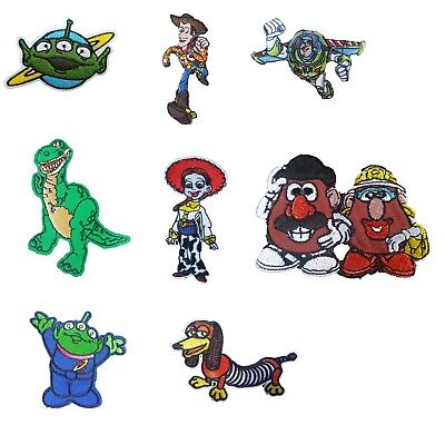 Toy Story Kids Movies Iron On Sew On Patches Badges Woody Buzz Light year Rex