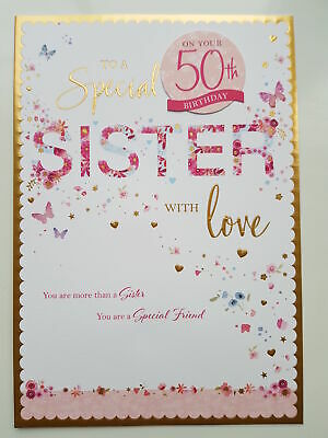 For A Special Sister Birthday Card 50th 60th 70th 80th