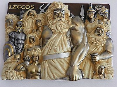 Greek Mythology 12 Olympus Gods Olympians Decor Plate Wall Hunging  Figurine