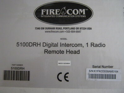 FireCom 5100DRH Digital Intercom, 1 Radio Remote Head