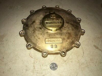 "Brass Sensus Water Meter Cover - 10"" in Diameter 8+ Pounds - No Gauge"