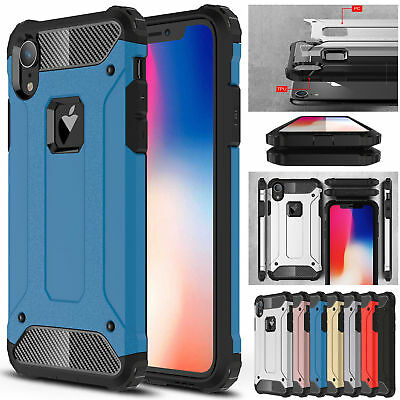 Shockproof Heavy Duty Armor Hybrid Rugged Hard Case For iPhone XS Max 7 8 6 Plus
