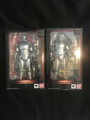 Sh Figuarts Star Wars Captain Phasma Lot Of Two Awakens And Last Jedi Figures