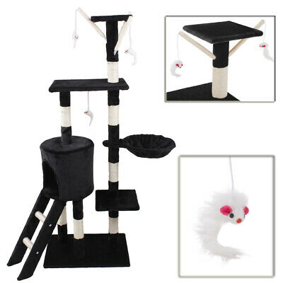 Cat Tree Scratching Climbing Post Activity Sisal Bed Toys Scratcher Tower UKED