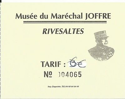 Museum musee maison natale Marechal Marshal General Joffre Rivesaltes ticket