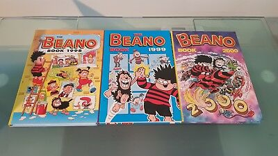 The Beano Annuals 1998, 1999 and 2000