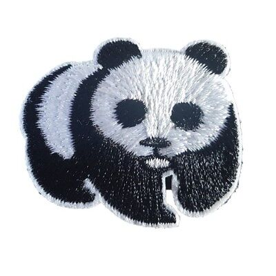 Small Cute PANDA Black and White Iron On Patch Sew on Embroidered transfer Bear