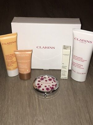 Clarins Extra Firming Body Lotion Gift Box With Mirror Compact Brand New In Box