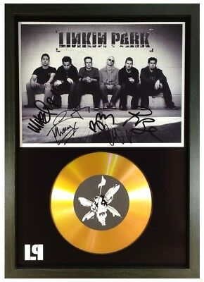 Chester Bennington - Linkin Park Signed Gold Disc Collectable Memorabilia Gift 3