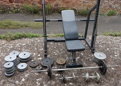 Marcy SM 600 Smith Machine & adjustable Bench with over 150 KG in weights + bars