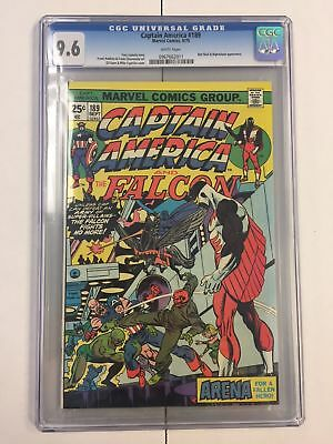 Captain America #189 Cgc 9.6 White Pages Marvel Comics 1975