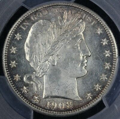 1908-D 50c Barber Half Dollar PCGS and CAC MS 63