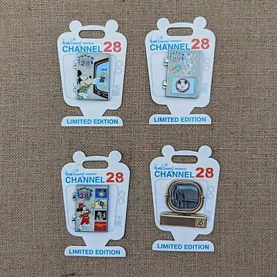 Channel 28 Guide Tv Pin Set 2018 Disney Mickey Donald Walt Disneyland LE 1000