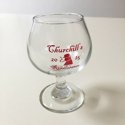 PORT BREWING Churchill's Renaissance 2015 mini snifter tasting glass LOST ABBEY