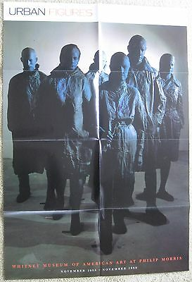 """URBAN FIGURES, poster, 1988 Whitney Museum of American Art, 32"""" x 22"""""""
