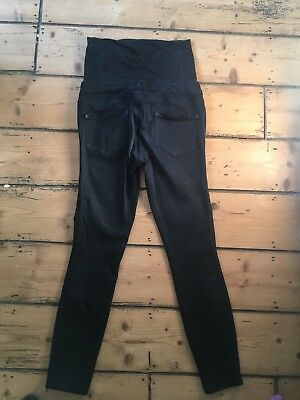Black Next Skinny Maternity Jeans Size 8  Over Bump