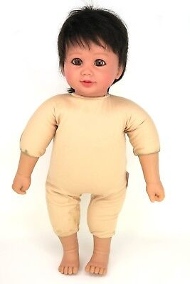 "My Twinn Doll Babies Toddler 18"" Brown Hair Eyes for Parts/Repair OOAK Project"