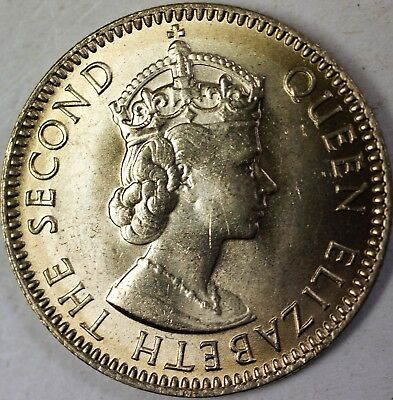 1973 Seychelles 25 Cents Queen Elizabeth the Second Brilliant Uncirculated Coin