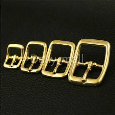 Solid Brass Middle Center Bar Belt Buckles For Bag Strap Bridle Halter Harness