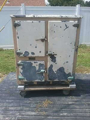 Antique Cavalier Metal Ice Box    (Early 1900s)
