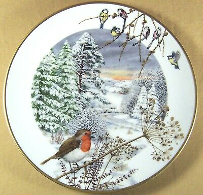 A COUNTRY LANE in DECEMBER* '79 P. Barrett Porcelain NATURE Plate MONTHLY SERIES