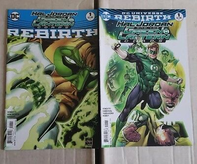 Hal Jordan and the Green Lantern Corps Rebirth 1 & 1 set