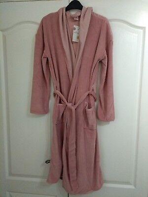 TED BAKER KIMONO Robe Dressing Gown Pink Black Size 16-18 Bnwt ...