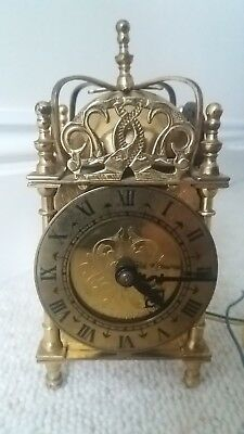 Vintage Smiths English Clocks England 240v Nell Gwynn Brass Dome Carriage clock.