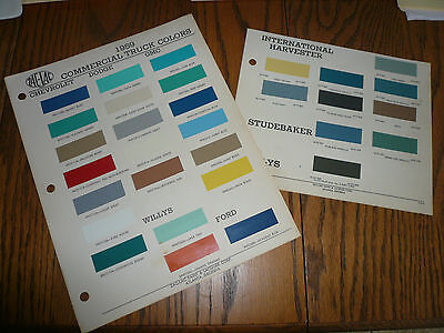 1959 Commercial Truck ZAC-LAC Color Chip Paint Sample GMC Chevy Dodge Ford REO