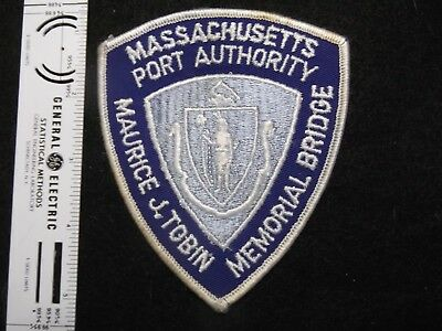 Massachusetts Boston Tobin Bridge Toll Officer Defunct Vintage closed in 2017