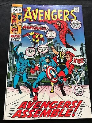The Avengers #82 Comic Book (Marvel,1970) +