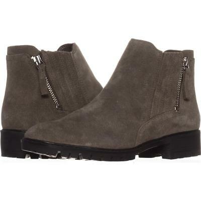 Marc Fisher Vortex Lug Sole Ankle Booties 965, Gray, 6.5 US
