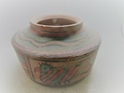 Circa 2200-1800Bce Ancient Indus Valley Harappan Terracotta Painted Pyxis