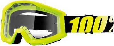 100Percent Strata Adult Goggles, Yellow With Clear Lens, One Size