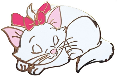 Rare LE 200 Disney Pin ✿ Aristocats Kitten Marie Sleeping Nap Pink Bow Cat Acme